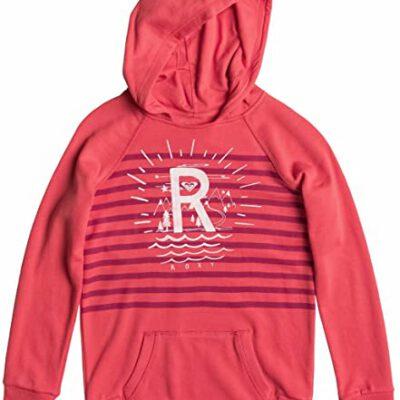 Sudadera ROXY niña con capucha y cremallera Ref. ERGFT03108 Tide Rush Solid rosa coral