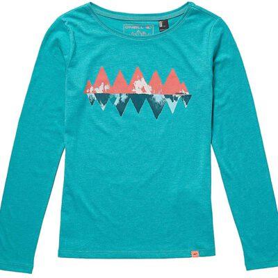 Camiseta O'NEILL niña manga larga Ref. 8P7172 Kinder T-Shirt lang Night View Spring grass Color azul turquesa