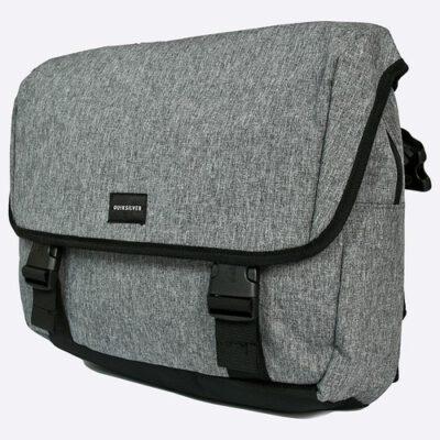 Bolso bandolera Quiksilver chico Ref. EQYBA03065 maletín para llevar portátil color gris