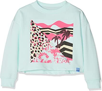 Sudadera O'NEILL niña cuello redondo Ref. 9A6472 Tropical Sweatshirt Water l con estampado tropical pecho
