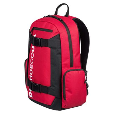 Mochila DC EDYBP03189 Backpack CHALKERS 28L grande con bolsillo ordenador roja SKATEPACK