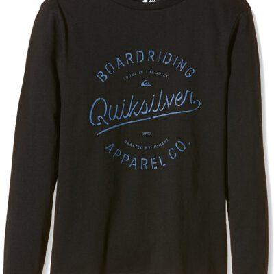 Camiseta manga larga niño Quiksilver Classic Rhino Chaser Ref.EQBZT03153 negra letras y logo azul