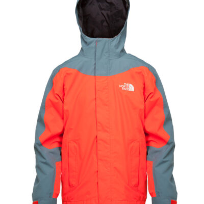 Chaqueta nieve THE NORTH FACE niño con capucha montaña Evolution Triclimate fiery red ref. T0AVYD15Q roja con detalles grises