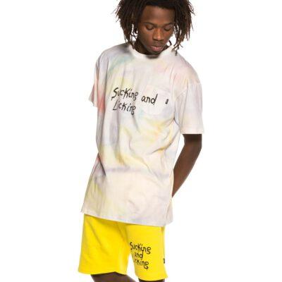 Camiseta GRIMEY manga corta unisex Laughin Boy Tie Dye Tee SS19 White Ref. GA524-WHT blanca con aguas color pastel