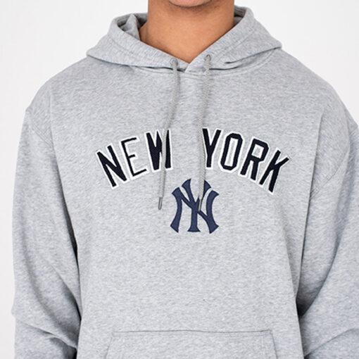 Sudadera NEW ERA Hombre Con capucha cómoda NEW YORK YANKEES UNIVERSITY CLUB Ref. 11604048 gris parche NY en el pecho