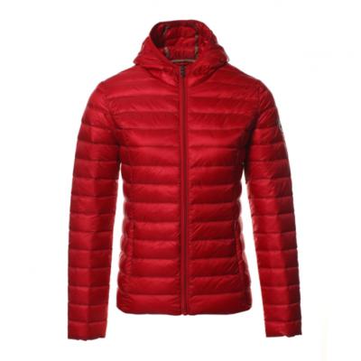 Chaqueta capucha Jott de plumas Mujer Rouge 3921/300 CLOE LAQUEE BASIC Justoverthetop Color roja lacada brillante