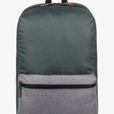 Mochila Quiksilver chico EQYBP03408 Night Track Plus 24L con bolsillo para ordenador verde militar con bolsillo gris