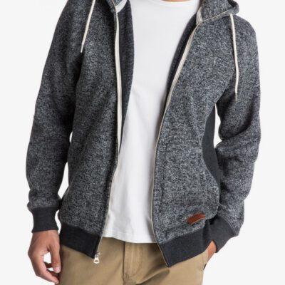 Sudadera de forro polar con capucha y cremallera Hombre Quiksilver Keller Ref. EQYFT03661 gris
