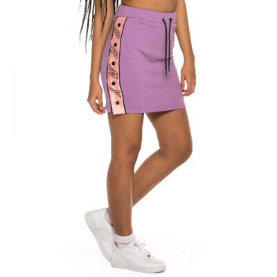 Falda Grimey chica Steamy blacktop skirt SS19 Purple Ref. GGMS104-PRP Lila con bandas logo color rosa palo