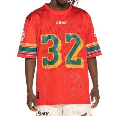 Camiseta GRIMEY manga corta unisex Wild Child Football T-Shirt Ref. GFJ105-SS19-RED roja nº 32 espalda