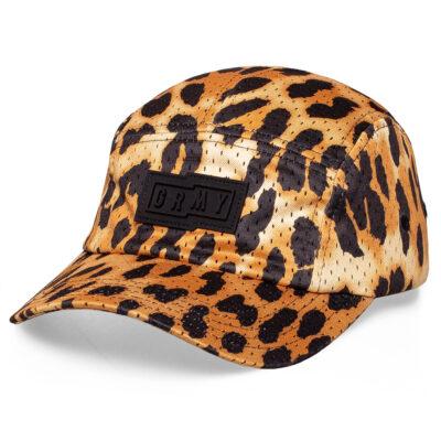 Gorra Grimey UNISEX Yanga 5 PanelsCap SS20 Leopard Ref. GR5P267-GRN marrón y negra leopardo