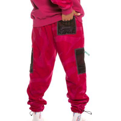 Pantalón polar GRIMEY con capucha chico Mysterious Vibes Polar Fleece Pant FW19 Purple Ref. GRTS168-PRP rosado