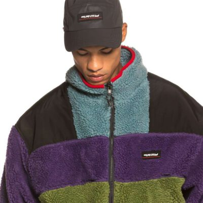 Chaqueta polar GRIMEY Sighting in Vostok Unisex Sherpa Jacket FW19 Purple Ref. GSHJ102-PRP-U Color púrpura, caqui