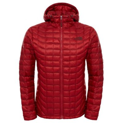 Chaqueta The North Face de plumón hombre cálida Thermobal Hoodie Cardinal Red T0CMG9619 roja