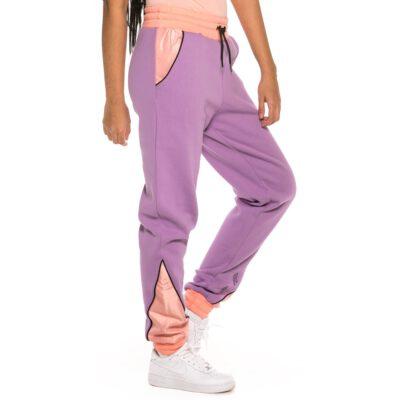 Pantalón chándal GRIMEY chica Steamy Blacktop Girl Sweatpant SS19 Purple Ref. GGTS111-PRP morado y rosa palo