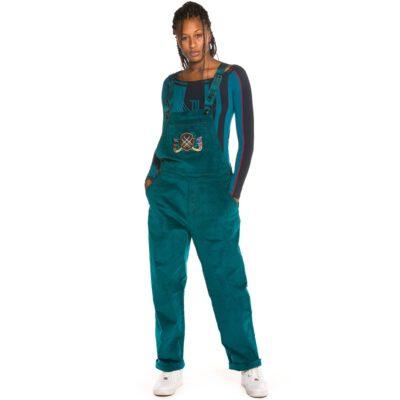Mono panna Grimey Chica tirantes Engineering Corduroy Girl Overall FW19 Green Ref. REF: GGJMP108-GRN verde esmeralda