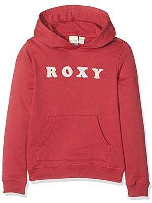 Sudadera ROXY niña con capucha y cremallera Ref. ERGFT03433 Calm Vibes B COLOR RQHO rojo rosado logo terciopelo rosa