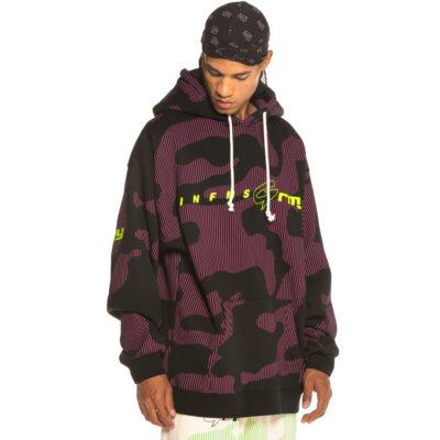 Sudadera GRIMEY con capucha UNISEX Looter Cult Hoodie FW19 Black Ref. GCH453-BLK negro y morado