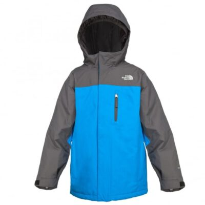 Chaqueta nieve THE NORTH FACE niño con capucha Magmatic Insulated Jacket Athens Blue SNOW ref. T0AUVKRQ9 bicolor gris y azul