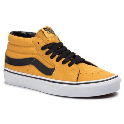 Zapatillas media caña VANS Skate número uno del mundo unisex SK8-Mid Mango Mojito/True black Ref. VN0A3WM3VYJ básica mostaza con bandas negras