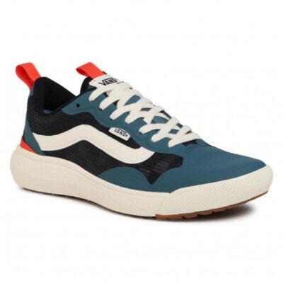 Zapatillas VANS cómodas Sneakers deporte hombre ULTRARANGE EXO Atlantic Deep/Antique White Modelo: VN0A4U1K24M1 azules con franja blanca