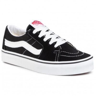 Zapatillas media caña VANS Skate número uno del mundo unisex SK8-LOW Modelo: VN0A4UUK6BT negra básica con franjas blancas