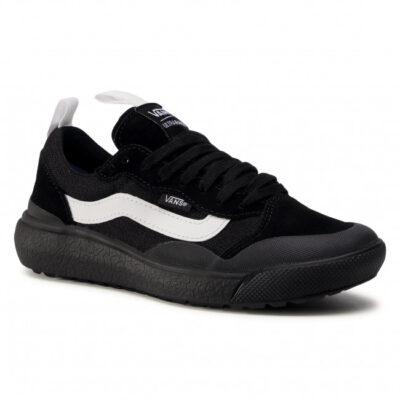 Zapatillas VANS cómodas Sneakers deporte hombre Ultrarange Exo Se Black Modelo: VN0A4UWMBLK1 negras con franja blanca
