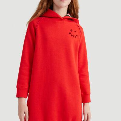 Vestido jersei O'Neill niña con capucha Sweat Midi Dress girl red Ref. 0P8970-3068 rojo