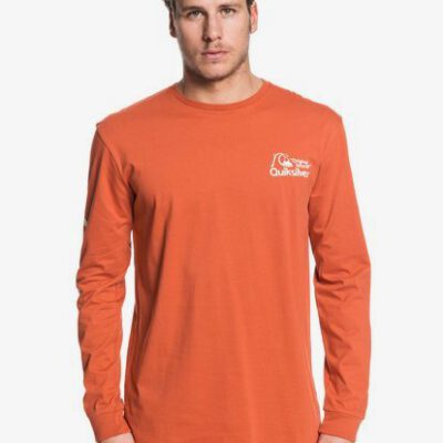 Camiseta QUIKSILVER hombre manga larga Omni Logo Classic Long Sleeve T-Shirt for Men Ref. EQYZT05503 MPMO color caldera