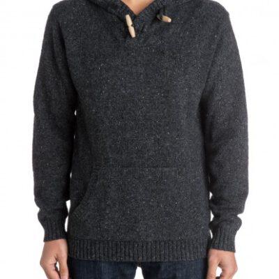 Suéter hombre QUIKSILVER de punto y con capucha Bowled Out - Suéter Ref. EQYSW03080 KYFH gris oscuro antracite