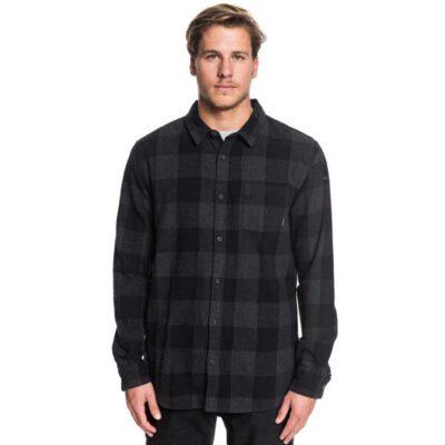 Camisa QUIKSILVER de Manga Larga franela Hombre Motherfly Flannel Long Sleeve Shirt Ref. EQYWT03918 kvj2 cuadros negro y gris