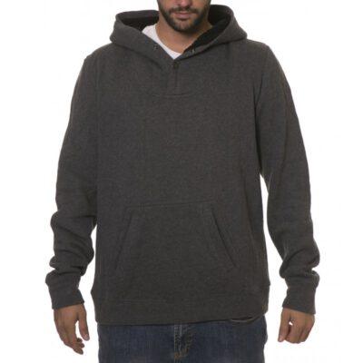 Sudadera Hydroponic hombre con capucha interior borrego casual Monk Heather Dark GREY Ref. 15554 gris oscura