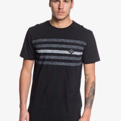 Camiseta Hombre QUIKSILVER manga corta contested Ref. EQYKT03927 kvjo negra rayas grises jaspeadas