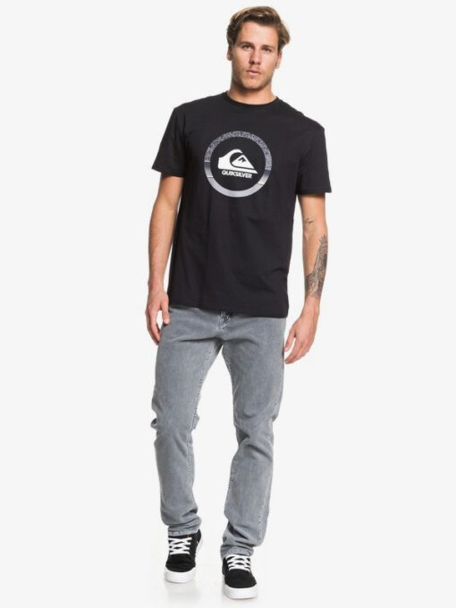Camiseta Hombre QUIKSILVER manga corta snake dreams ref. EQYZT05481 kvjo negra logo grande grises
