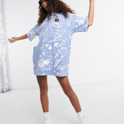 Vestido SANTA CRUZ Mujer cuello redondo Kit Dress Ref. SCA-WDR-0301 Azul claro con salpicaduras blancas
