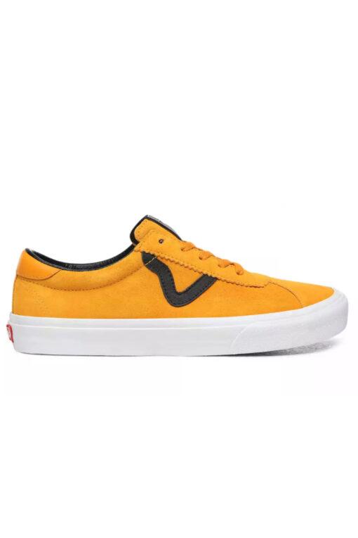 Zapatillas VANS Skate estilo retro unisex VANS SPORT Cadmium Yellow/True White Modelo: VN0A4BU6XW3 mostaza franja negra