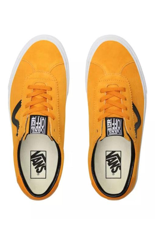 Zapatillas VANS Skate número uno del mundo unisex VANS SPORT Cadmium Yellow/True White Modelo: VN0A4BU6XW3 mostaza franja negra