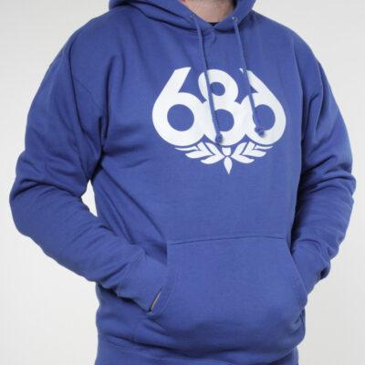 Sudadera 686 hombre con capucha casual WREATH PULLOVER HOODY Ref. KCRPHS102 azul eléctrico