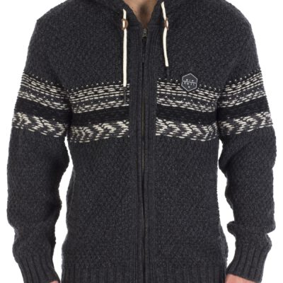 Chaqueta punto RIP CURL hombre caliente con capucha Torquay Sherpa Sweater Black Ref. CSWBG4 negro/gris