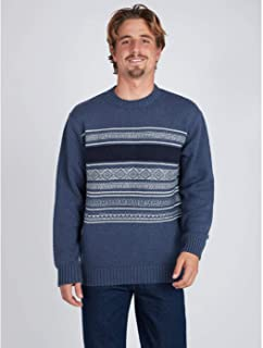 Jersei punto BILLABONG hombre cuello redondo Mayfield Warm Sweater casual Suéter Ref. BIZ1JP17 azul/blue rayas