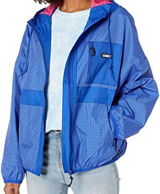 Chaqueta chubasquero cortavientos OBEY chica Riverbed Jacket Cobalt multi Ref. 221800311 Azul eléctrico