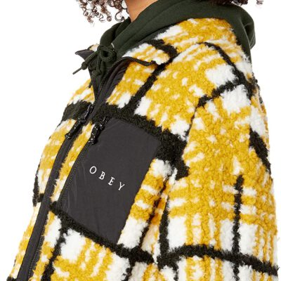Chaqueta polar OBEY chica Hudson Anorak Jacket Mustard multi Ref. 221800297 mostaza cuadros