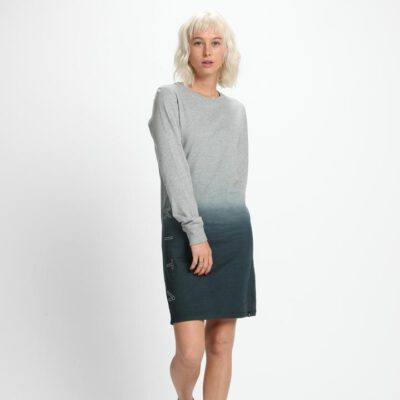 Vestido NIKITA Clothing Mujer cuello redondo REED DRESS Ref. NKWDREE-CHA gris degradado