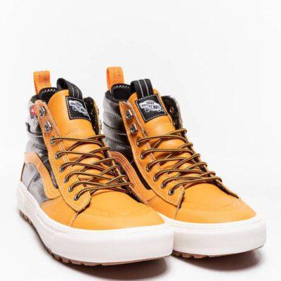 Zapatillas altas VANS Sneakers deporte hombre SK8-Hi Mte 2.0 DX VN0A4P3I2NF1 negro mostaza