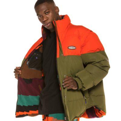 Anorak Invierno reversible GRIMEY unisex Dulce Reversible Puffy Jacket Orange Ref. GPJ120-FW20-ORG verde caqui y naranja