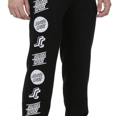 Pantalón deporte Santa Cruz hombre suave CLASSIC SWEATPANT BLACK Ref. SCA-PNT-0114 negra logos blancos