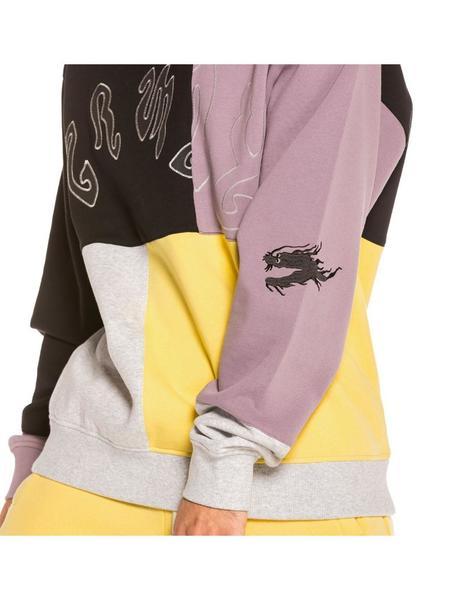 Sudadera GRIMEY cuello redondo UNISEX Yoga Fire Crewneck Grey Ref. GSW470-FW20-GRE Gris lila amarilla y negra