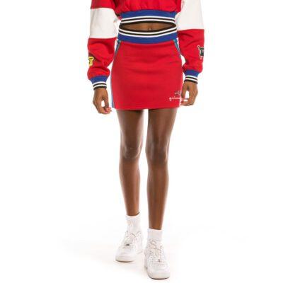 Minifalda corta GRIMEY chica Grimey Arch Rival FW20 Rojo Ref. GGSK108-RED roja con franjas laterales
