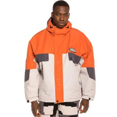 Anorak Invierno GRIMEY con capucha unisex Dulce Reversible Puffy Jacket Grey Ref. GJ121-FW20-GRE gris y naranja