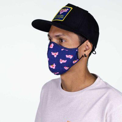 Mascarilla Hydroponic con bolsillo interior más filtro Breeze Pink Panther Face Mash Ref. FM001 azul Pantera rosa